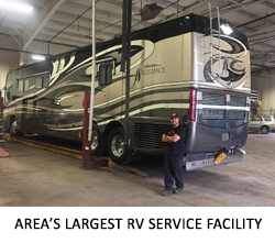 AREA'S LARGEST RV SERVICE FACILITY